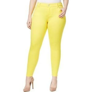 Celebrity Pink Solid Yellow Jayden Skinny Jeans